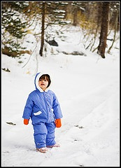 kid in snow