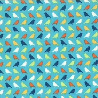 Birds in Turquoise by Erin McMorris at Bee Square Fabrics { Quilting fabrics for the modern crafter }_1235042497358