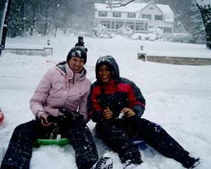 Au Pairs enjoy their first snowfall au pair advice low cost childcare
